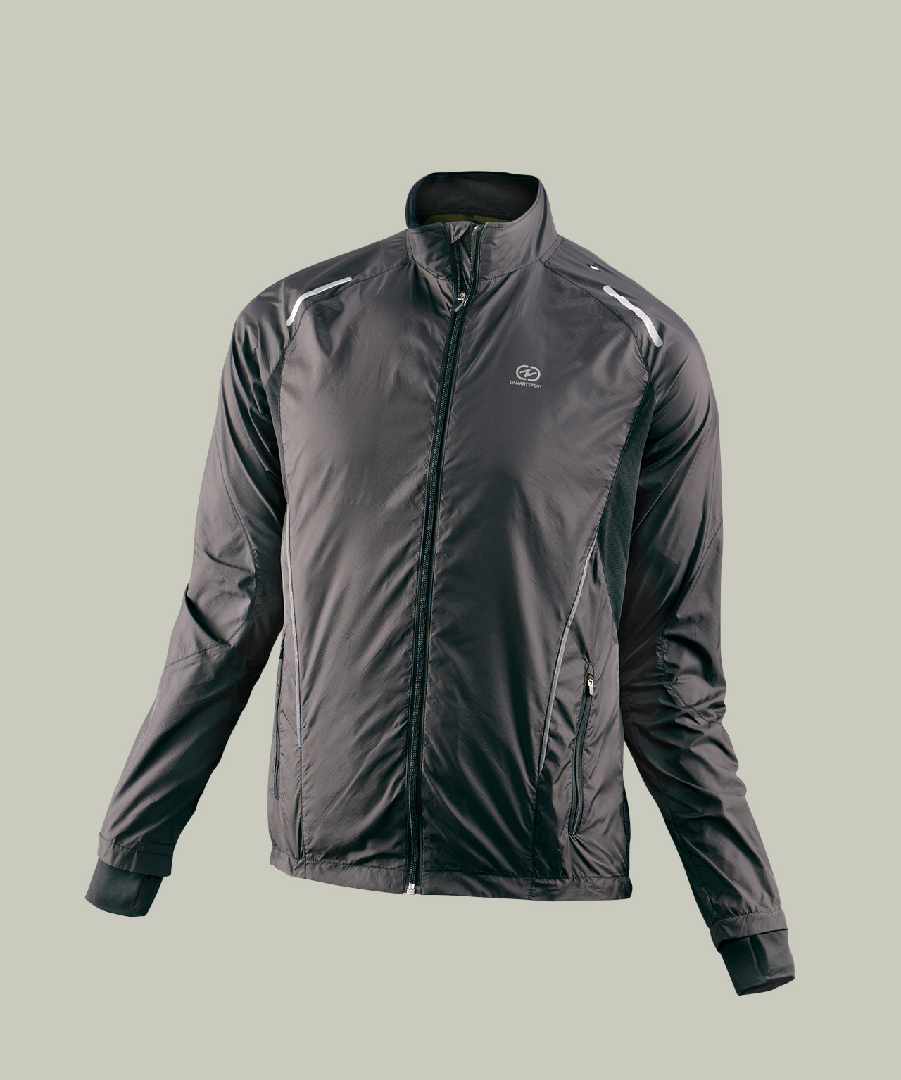 Chaqueta impermeable running hombre - Negro
