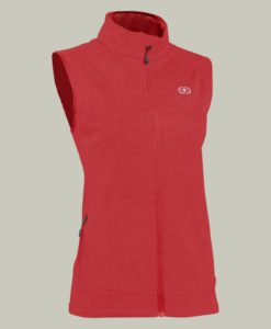 Chaleco Soft Shell impermeable y transpirable senderismo mujer - Terracota