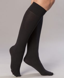 Lote de 2 calcetines largos 80D Thermolactyl - Negro