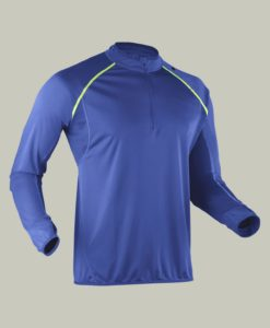 Camiseta transpirable anti UV senderismo hombre - Azul vivo